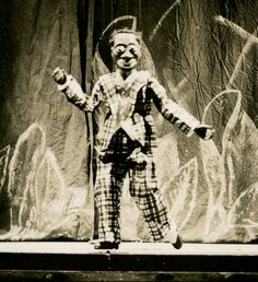 "Bill ""Bojangles"" Robinson puppet. Ralph Chessé papers C0224, Box 1, Folder 19. Special Collections and Archives, George Mason University."