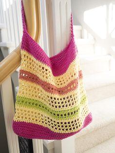 Crochet Beach Tote Bag ༺✿ƬⱤღ✿༻