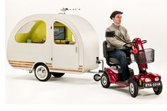Scooter (or bicycle) camper!
