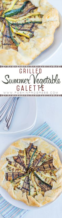 Msg 4 21+ My grilled summer veggie galette is a delicious, elegant, and yet rustic. It's super EASY to make. It's perfect for football tailgating and goes great with wine! #sharewine #ad