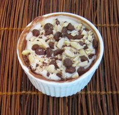 Microwave mini-chocolate cheesecakes  - easy, single serving desserts  - blog - Mother Would Know - recipes & cooking tips serv dessert, singl serv, cheesecakes, single serving desserts, yum food, single serve cheesecake, single serve desserts, minichocol cheesecak, microwav minichocol