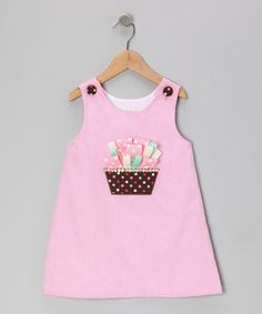 Take a look at this Pink Gingham Ribbon Cupcake A-Line Dress - Toddler & Girls by Secret Wishes on #zulily today!