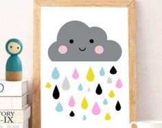 Nursery print Nursery wall art Cute art por DandelionCreativeCo