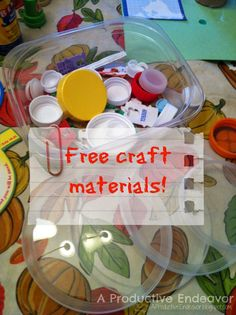 Free craft materials from around the home!