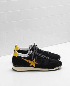 Golden Goose Running Homme En Solde Jaune Noir Tennis Sneakers f7f1cd34d05d