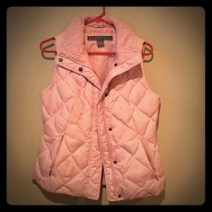 Pink puffer vest! Kenneth Cole Reaction pink puffer vest! Soft fleecy collar and fleece lined pockets. Worn 3 times, excellent condition! Kenneth Cole Reaction Jackets & Coats Vests