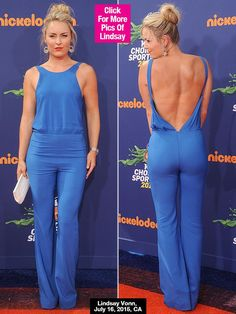 Lindsey Vonn's Kids' Choice Sports Awards Outfit: Rocks Daring Backless Jumpsuit