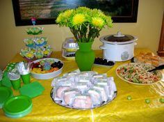 Yellow and Green Baby Shower Tablescape