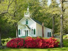 Church in the Spring. North Georgia