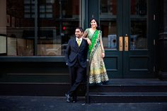 Tanuja (bride) and Maulin (groom) had a wonderful Indian wedding in NJ, but they were looking to have a shoot done in downtown NYC where they love to hang out and spend a lot of their time.
