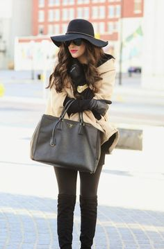 cape, bag, hat - love