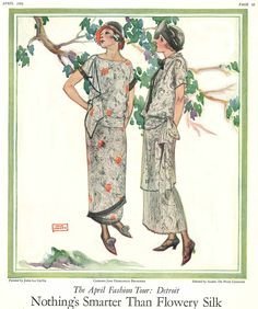 A lovely duo of designs illustrated by John LaGatta, in April 1924 Ladies Home Journal