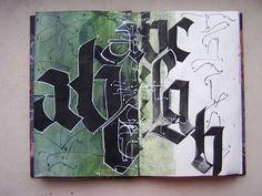 L'ivre de lettres et de couleurs: Carnet d'études calligraphiques
