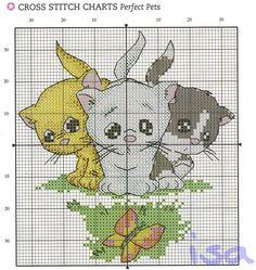 GRAFICOS PUNTO DE CRUZ GRATIS : GATOS -- THREE LITTLE KITTENS -- PG 3 OF 3