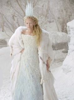 Tilda Swinton in 'The Chronicles of Narnia'  I would like to be this for Halloween.
