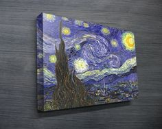 STARRY NIGHT, VAN GOGH $24.00–$698.00 This is a canvas art print of the famous painting called, Starry Night, by Vincent van Gogh. This premium quality art print is printed on archival quality canvas, and delivered ready to hang straight on the wall. http://www.canvasprintsaustralia.net.au/ #PhotosoncanvasAustralia #Stretchedcanvas #Gicleeprint