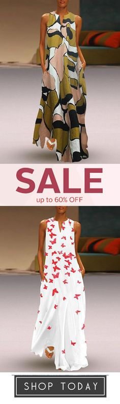 Shop the latest fashion chic dresses online, we offer the hot trendy high-quality dresses, clothes and other fashion products for women. Summer Dresses Sale, Boho Fashion, Fashion Dresses, Sexy Long Dress, Cotton Linen, Printed Cotton, Chic Dress, African Fashion, Plus Size Fashion