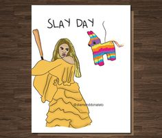 Happy bey day funny birthday card for girlfriend or bff b day beyonce funny birthday card funny birthday card for her you slay slay day lemonde funny birthday card bookmarktalkfo Image collections