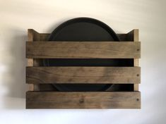 Restaurant serving trays holder wall mounted, Rustic wood rack for serving trays, Wood Rack Drinks trays Rack Rustic Restaurant Bar Brewery