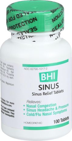 For the temporary relief of minor sinus congestion and pressure due to allergic rhinitis and colds.