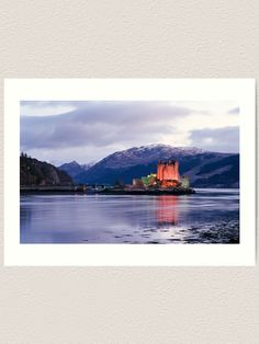 """Eilean Donan Castle in winter "" Art Print by goldyart Print Design, Art Print, Eilean Donan, Thing 1, Winter Art, Scottish Highlands, Colour Images, Large Prints, Vibrant Colors"