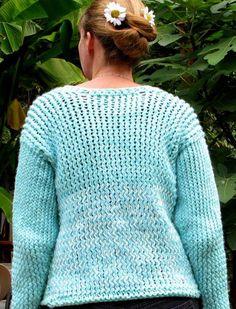 Loom knit Sweater cardigan