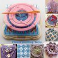 Ručné pletenie Nástroje Flower vidlica Pletená Device Knitting Loom Pletené Daisy kvetinový vzor Maker Weave postavil domácich majstrov Craft Tool