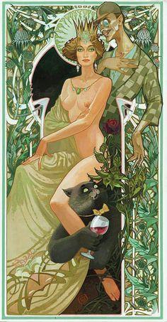 Иллюстрации к «Мастеру и Маргарите» Павла Оринянского.
