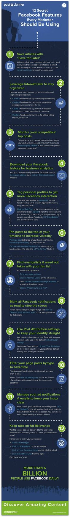 Infographic: 12 Facebook features every marketer should know | Articles | Main