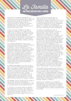 """Tiempo para Compartir: Octubre 2014 Muestre a los niños láminas de los Diez Mandamientos y de las Escrituras. Pregunte: """"¿De dónde vinieron estas cosas?"""" Explique que vinieron de Dios mediante Sus profetas para ayudarnos a saber qué hacer. Muestre a los niños un ejemplar de """"La Familia: Una Proclamación para el Mundo"""" y explique que provino de Dios por medio de Sus profetas de los últimos días para ayudar a las familias."""