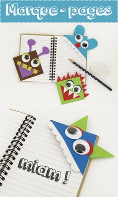Little monsters bookmarks – Children's activities – 10 Fingers Monster Bookmark, Corner Bookmarks, Little Monsters, Diy Crafts For Kids, Christmas Diy, Activities For Kids, Easy Diy, Diy Projects, Crafty