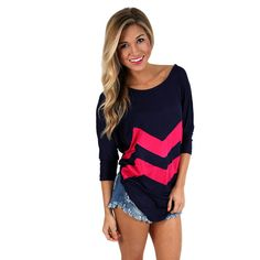 I Think This is Love Navy/Fuchsia | Impressions Online Women's Clothing Boutique  The perfect tee for those breezy summer nights.