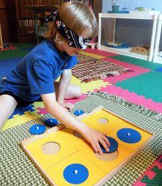 Blindfolded shape puzzle