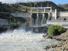 The flood gates are open!  The amazing force of nature.  Roxburgh Dam is the only dam in Central Otago you can drive or walk over. http://www.centralotagonz.com/commissioners-track