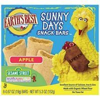 Earths Best Organic Sunny Days Snack Bars Apple 53Ounce Boxes Pack of 6  Value Bulk Multipack * Details can be found by clicking on the image.