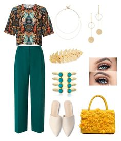 """""""mule Green"""" by thatimr ❤ liked on Polyvore featuring L.K.Bennett, Sole Society, Cloverpost and Avigail Adam"""