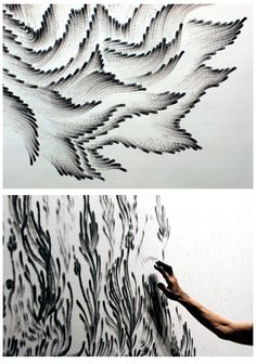 Judith Braun - Fingerings - Fingers dipped in charcoal Inspiration Art, Art Inspo, Hippie Art, Illustration Art, Mountain Illustration, Art Club, Oeuvre D'art, Art Techniques, All Art