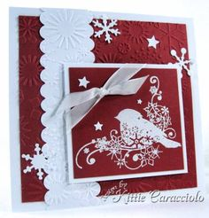 gorgeous embossed and stamped card