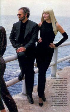 US Vogue March 1986 Photo Helmut Newton Models Gianni Versace