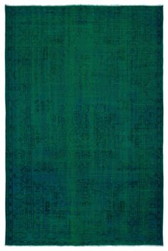 Green Over Dyed Vintage Rug x ft 186 x 274 cm - Unique Rug Store Home Depot Carpet, Cheap Carpet Runners, Diy Carpet, Carpet Colors, Carpet Design, Hand Knotted Rugs, Stores, Vintage Rugs, At Least