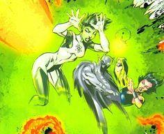 Jade, Batman (Dick Grayson) and Donna Troy