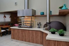 Four A Pizza, Wood Fired Oven, Kitchen Stove, Garden Living, Barbecue Grill, Wall Oven, Terrazzo, Outdoor Spaces, Home Kitchens