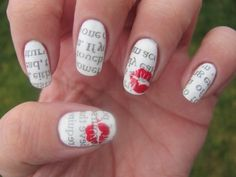 Newspaper Nails with Kiss