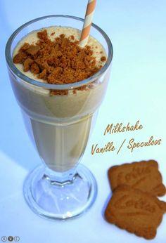 Il fait chaud, on se rafraichit avec un bon milkshake bien frais et gourmand à la vanille et aux spéculoos :p