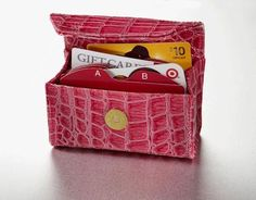 Tickled Pink Croc Card Cubby SHIPS APRIL 7th