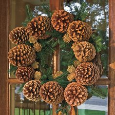 A beautiful Christmas wreath always brightens a holiday home. Welcome your guests with these festive Christmas wreath ideas. Christmas Wreaths, Christmas Decorations, Holiday Decor, Pinecone, Decor Crafts, Home Decor, Southern Living, Beautiful Christmas, Burlap Wreath