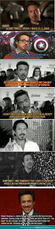 Robert Downey Jr everyone haha love this man lol Marvel Dc, Memes Marvel, Dc Memes, Avengers Memes, The Avengers, Marvel Funny, Funny Memes, Hilarious, Funny Quotes