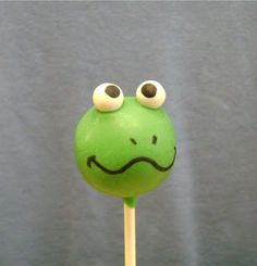 Cake Pop and Cake Ball Ideas: Frog Cake Pops
