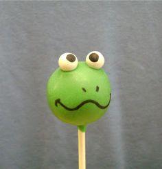 Cake Pop and Cake Ball Ideas: Frog Cake Pops