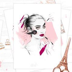 'Glitter Lips', by Fashion Illustrator Cristina Alonso.